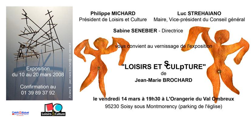 """Exposition """"LOISIRS ET sCULpTURE"""""""